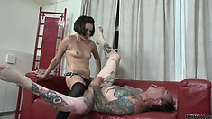 Lexy Veracruz ramming a guys asshole with a huge strapon, who's the boss now?