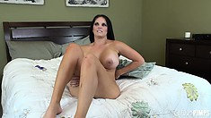 Mackenzee Pierce spreads her legs wide open and shows off her cunt