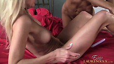 Hot brunette milf Tara Holiday sets up a lesbian encounter with a sexy blonde cougar