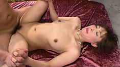 Mami Asakura has her hairless snatch fucked relentlessly by a horny bloke