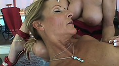Lesbian bitches get hot and heavy with their best toys in a party