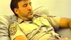 Horny cop meets hairy construction worker role play with Eric and John