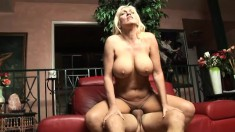 Horny blonde MILF Kayla Page gets her desires fulfilled by a huge dick