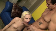 Innocent beauty Kelly Klass shows her nasty side as she gives a rimjob
