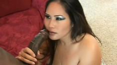 Asian babe Jessica Bangkok gets into an interracial fuck fest
