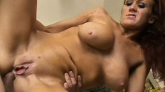 Endearing bimbo with fascinating tits and ass gets banged anally