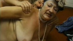 Uninhibited granny is eager to get drilled hard in doggy style