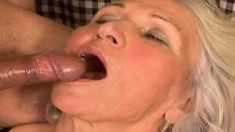 Experienced granny knows how to pleasure a younger womanizer