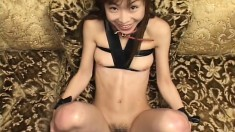Sweet Oriental babes with amazing oral skills swallow big loads of cum