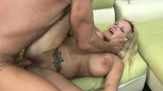 Big breasted blonde cougar Rachel Love is in need of a deep pounding