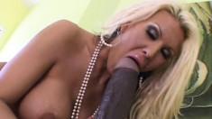 Buxom blonde milf Michelle McLaren pleases herself with big sex toys