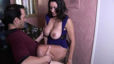 Big breasted milf Persia Monir has a fiery cunt yearning for hard meat