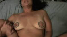 Diana is a slutty hottie who enjoys choking on a massive pecker