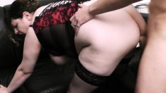 Big, huge tit counselor decides to fix him up by banging him in front of his wife