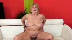 Wild lady Malya makes no attempt to resist a young man with a big dick