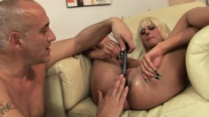 Sultry White Angel gets her pussy stretched and enjoys great pleasure