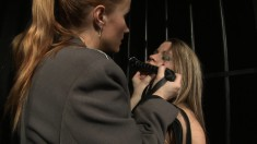 Brunette slave is tortured and humiliated into submission by her mistress