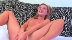 Blonde Greta gets a lesson in fucking a bat and getting fist fucked