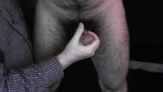 Blindfolded hunk has his lover blowing his dick and fingering his ass