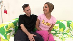 Petite Veronique Vega Has A Large Dick Making Her Peach Wet And Happy