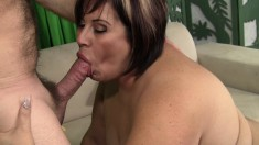 Luscious mature Latina loves to get her snatch pounded deep and rough