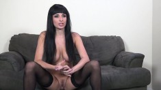 Buxom beauty Anissa Kate takes every inch of hard meat at every angle