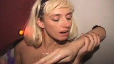 Blonde Cocksucker With Big Tits Malory Takes A Fist In Her Tight Cunt