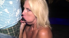Amateur milf outdoors blowjob and fucking
