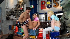 Rocco now gets to pump one of the bitches bent over with pictures