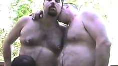 Chubby horny bears bang like crazy during an amateur gay porno
