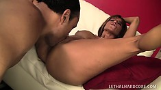 Tara Holiday gets down with a young black guy's monster cock