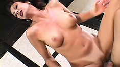 Busty housewife Vanessa fucks a big black cock and her husband watches