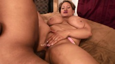 Chubby mature woman surrenders her needy snatch to a hung black dude