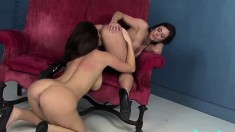 Busty milfs Kendra and Jayden drive each other's fiery cunts to climax