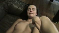 Wild amateur Stella gets banged hard by her boyfriend John on the sofa