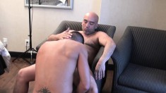 Sexy guy getting his anal hole licked and drilled by his gay lover