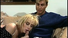 Wild chick Sandra Scream gets into some rough action with Woody Long