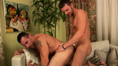 Handsome guys can't resist each other's charms and engage in anal sex