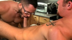 Naughty gay stud gets his ass pumped full of cock by his hot neighbor