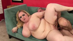 Big breasted Nikky seizes the chance to get her wet pussy banged good