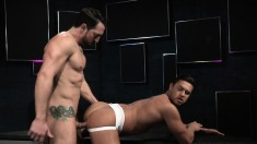 Lusty gay Romeo wants to feel this boner deep inside his bunghole