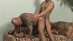 Lustful Guy Fully Enjoys Every Thrust Of Cock Up His Ass From Behind