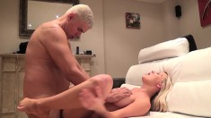 Buxom Sienna Day enjoys multiple orgasms with a sex toy and a fat cock