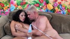 Big tit Missy Martinez sucks dick, gets toyed and does sixty-nine