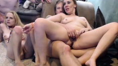 Busty Oriental Babe Hardcore Group Sex