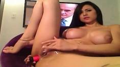 THEWILDCAM. COM - Latina with two dildos