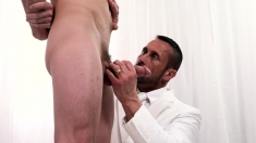 Missionaryboyz - Daddy Fucks Twink Bareback In Office