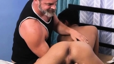 Silver Daddy Bareback Fucks And Exchange Student