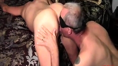 Husband Licks His Cum From Girls Fucked Hole