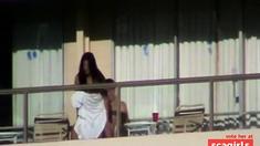 Hotel Balcony Fuck!!!!
